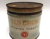 Old Chum Virginia Flake Cut Smoking Tobacco tin