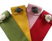 Felt Knitting Needle Case, Knitting Needle Roll, Paintbrush Roll, Tool Organizer, Choose your Color
