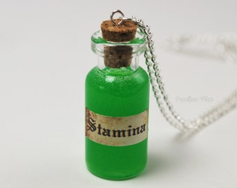 Stamina Potion Necklace - Gamer Jewelry, Kawaii Jewelry, Nerd Jewelry