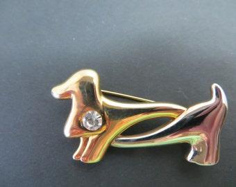 Vintage Dachshund Doggy Pin