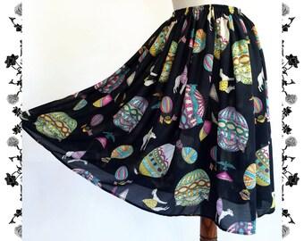 1950's Vintage Inspired Full Skirt Folk Rockabilly