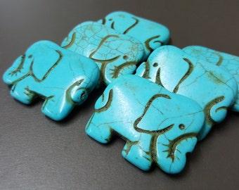 Blue Fancy Elephant Howlite