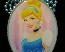 Princess Necklace-Cinderella Jewelry-Handmade Resin Pendant Jewelry