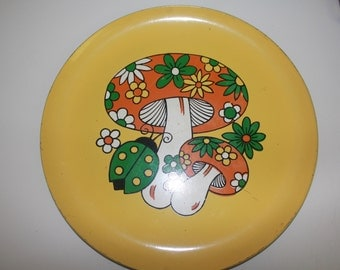 Totally psychedelic vintage tray for your consideration