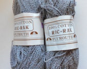 Yarn Destash - Plymouth RicRac Cotton Yarn-  Knitting, Crochet, scarves
