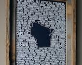 Beers of Wisconsin Word Map (Dark Blue)