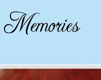 Memories Wall Decal Memories Vinyl Wall Decal Quotes (JN8)