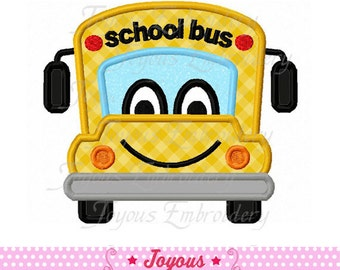 Instant Download Back To school/School Bus Applique Machine Embroidery Design NO:1780