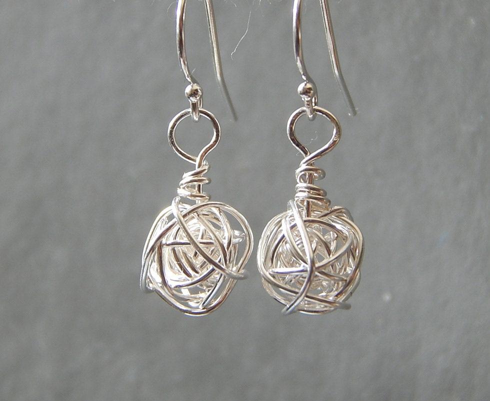 silver earrings sterling silver earrings knot