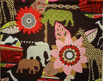 MBali   by Alexander Henry on Brown - Fabric By The Yard