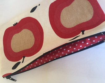 Fun apples pencil cases, with lining