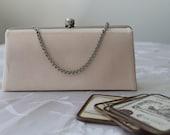 Bridal clutch,wedding clutch,evening handbag,soft pink bridal bag,French chic wedding,garden party handbag,classic clutch