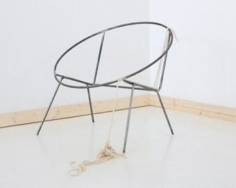 DIY Welded Steel Frame Hoop Circle Chair Frame