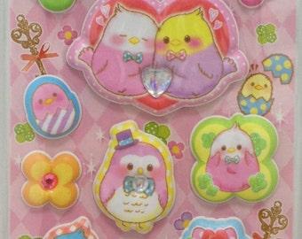 Budgie Budgerigar Parakeet Bird Super Puffy Stickers (05147)