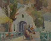 Arch - Avalon - Catalina - Island - Coastal - Beach - Shore - Seascape - California - Plein Air - Original Oil Painting - Landscape - Tile
