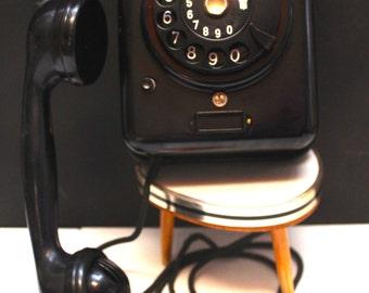 German Wall phone Black Metal