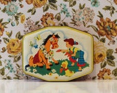 Vintage Kitsch Horner Horse Tin Kawaii Cute