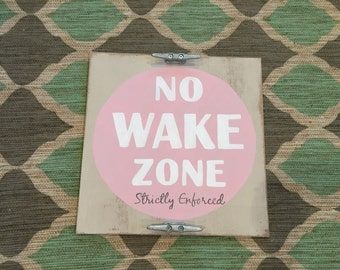 No wake zone nursery wall hanging