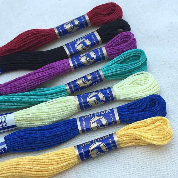 embroidery floss quotmosaicquot color mix 7 skeins
