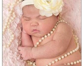 Baby Girl Flower Pantyhose Nylon Soft Headband