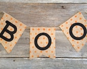 Boo Banner, polka dot banner, halloween banner, Fall Baller, Halloween
