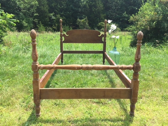 Antique Twin Bed Pineapple Bed Four Poster Bed Frame