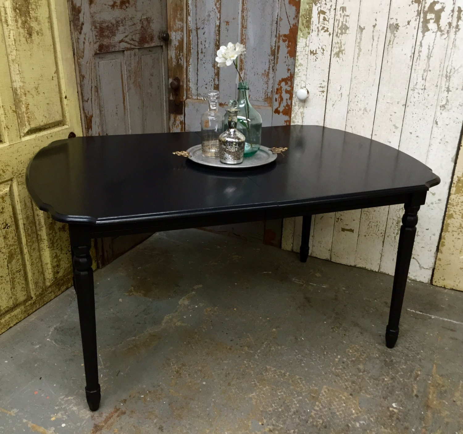 black dining room table expandable dining table black