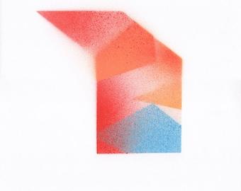 Modern geometric original painting