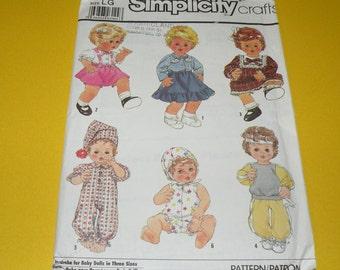 "Simplicity 8376 Large Doll Wardrobe 17-18"" Uncut"