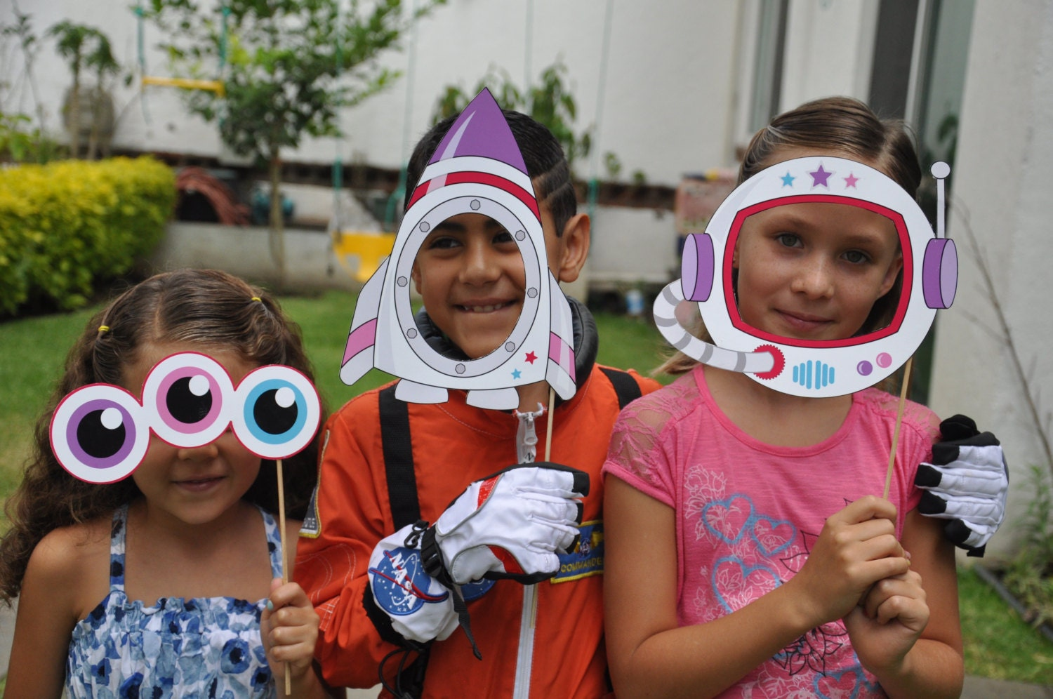 Astronaut Space Party Pdf Printable Outer Space Photo Booth