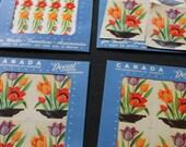 vintage farmhouse decals tulips fruit basket Canada