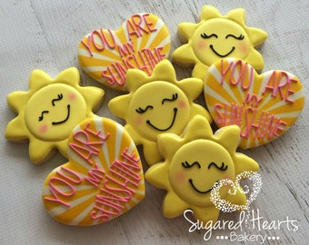 You Are My Sunshine Cookies - 1 Dozen