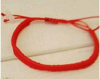 SALE Red Kabala Bracelet - Lucky bracelet with handmade silver charm