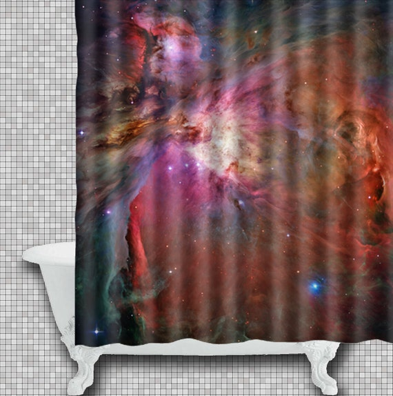 Outer Space Shower Curtain Galaxy Bath Curtain Space By