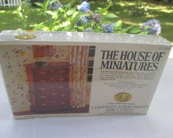 Xacto Chippendale Chest on Chest House of Miniatures Kit w Bonus No. 40009
