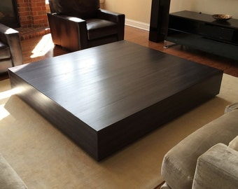 Large inlay Floating Coffee Table