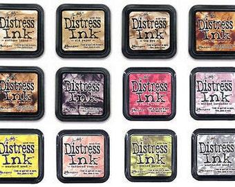12 COLOR LOT #1 Tim Holtz Distress Ink Pads - Ranger
