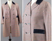 1950s Ladies Plaid Swing Coat