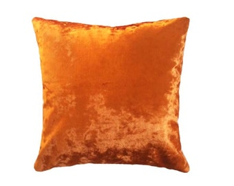 Orange Italian Velvet Cushion
