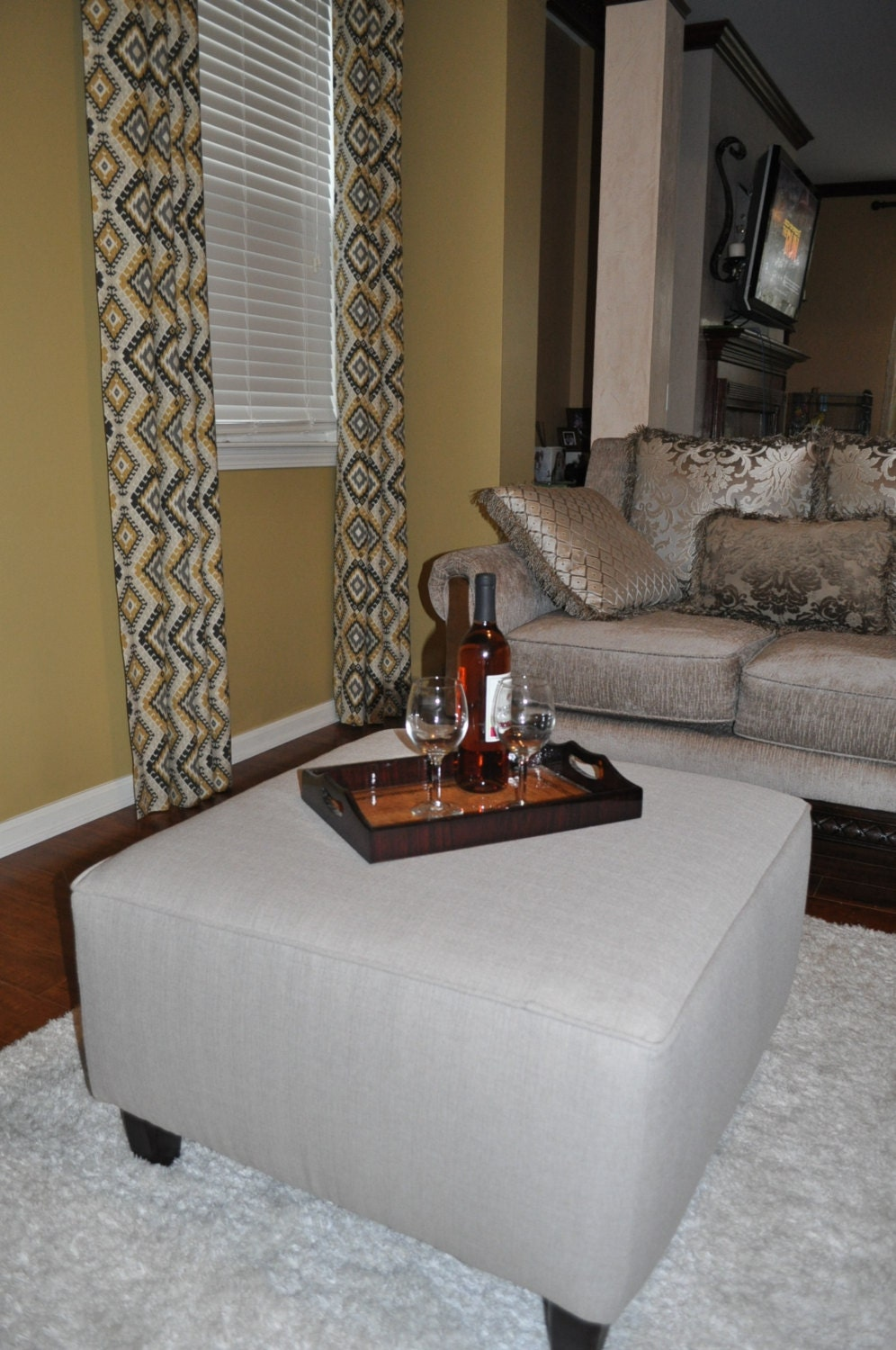 Upholstered Ottoman Bench Coffee Table Made To Order
