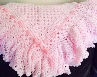 No 101 Baby Pineapple Shawl Crochet Pattern