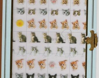 Japan kawaii CATS!! Point Mark sticker sheet/32136