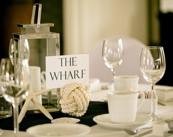 20-25 Smaller Wedding Rope Table Number Holders - 4 inch - Nautical Rope Card Holders