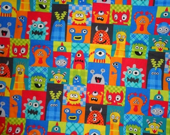 Monster fabric etsy for Monster themed fabric