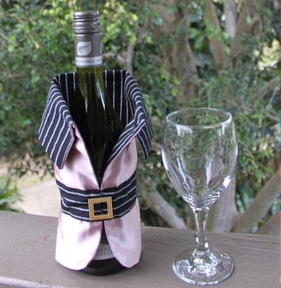 Items Similar To Wine Bottle Cover Satin Jacket For Wine