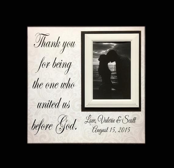 Wedding Gift Ideas For Christian Couple : Christian Wedding Officiant Gift ~ Custom Wedding Frame ~ Thank You ...