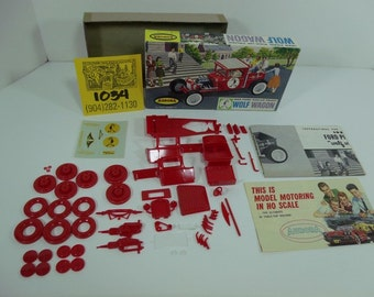 1960's Aurora WolfWagon Model Kit w/ Box,Instructions,Decals