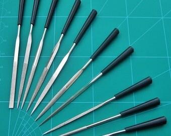 10 Needle Files Diamond Coated Set