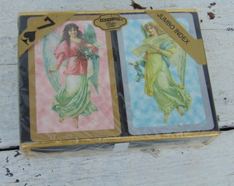 Pack Deck Playing Cards Vintage Double Deck Angel Cherub