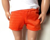 CLOSEOUT: Orange Mesh Jersey Shorts for 18 Inch Doll American Girl Doll Our Generation Doll